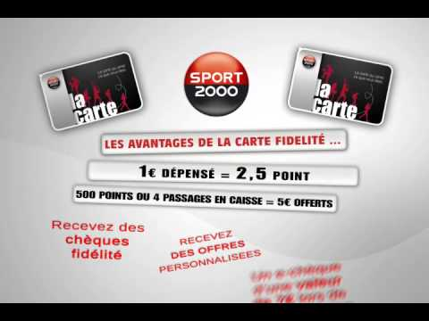 carte fidelite sport 2000 youtube. Black Bedroom Furniture Sets. Home Design Ideas