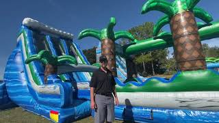 BounceWater's Tropical Wave #2 Dual Lane Water Slide For Sale