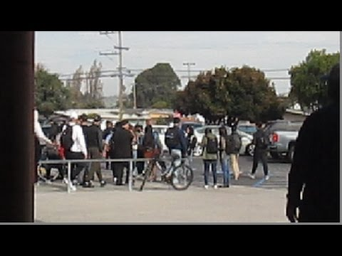 Hayward, CA: High School students walkout to city hall in protest of Trump was elected