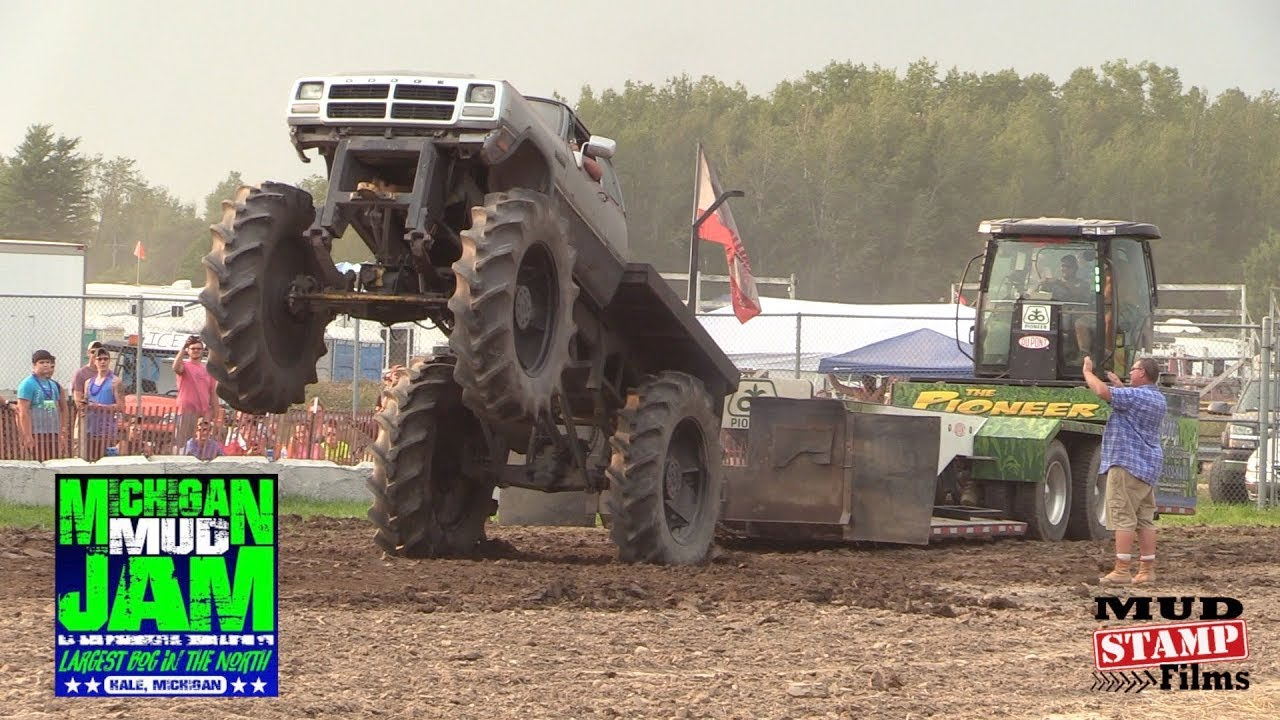 Mega Truck Sled Pulls- Michigan Mud Jam 2018