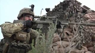 Marine Scout Snipers & Army Snipers in Action