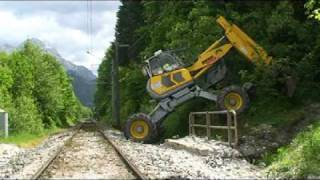 Gleisbagger - rail version of Menzi Muck A91