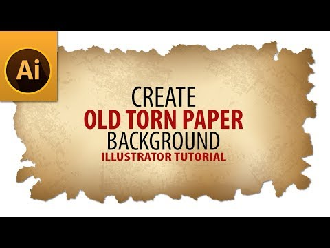 How To Create Old Torn Paper Background Tutorial In Illustrator