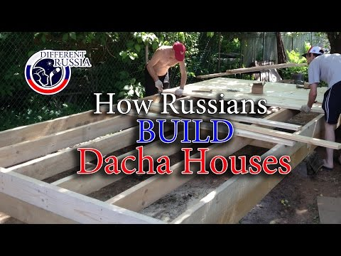 RUSSIAN CONSTRACTION: How Russians Build Dacha Houses // Different Russia Channel