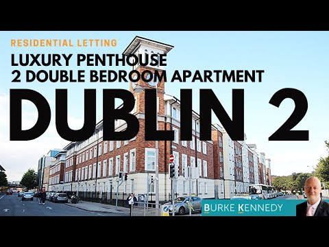 Luxury 2 bedroom penthouse apartment Dublin 2.