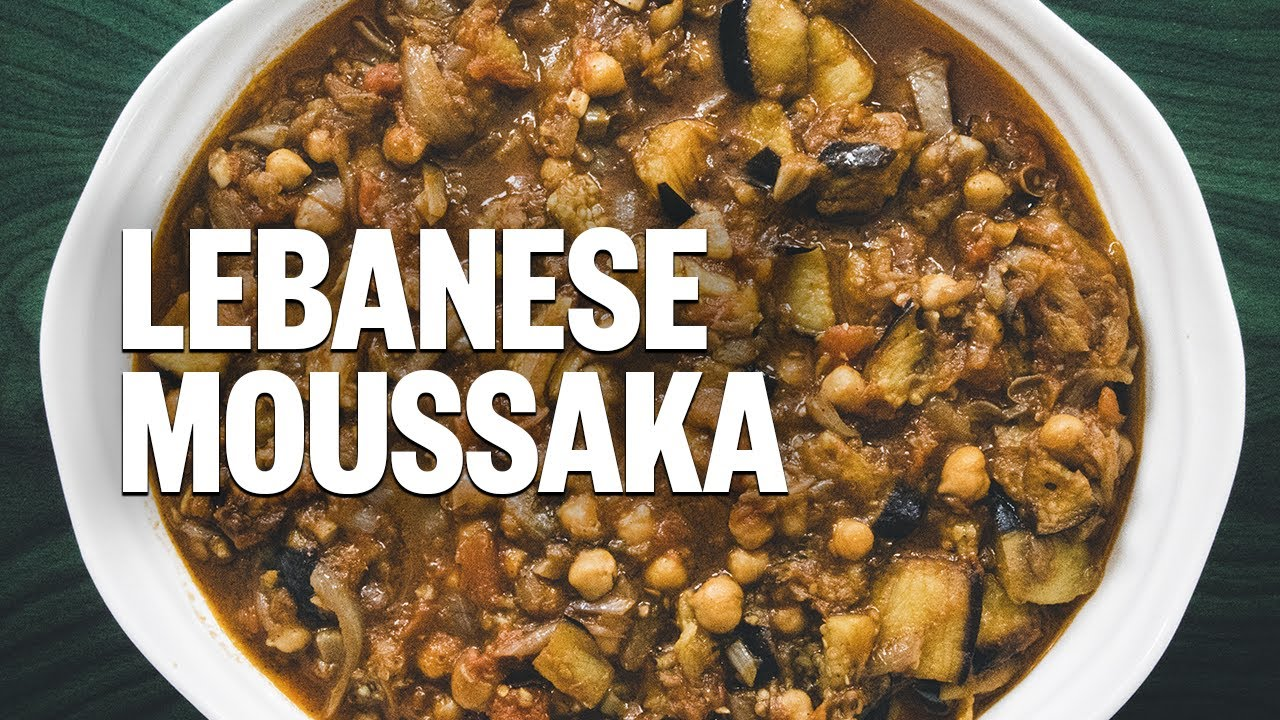 Maghmour Lebanese Moussaka With Eggplant And Chickpeas Vegan No Gluten مسقعة باذنجان Youtube