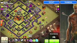 "Clash of Clans -- ""Hero and the Goat"" Screencast -- JTJ vs ""Black and White"" (10/6 CW)"