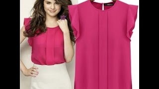 Download how to make a blouse sheinside with tables DIY- como hacer una blusa en 20 minutos Mp3 and Videos