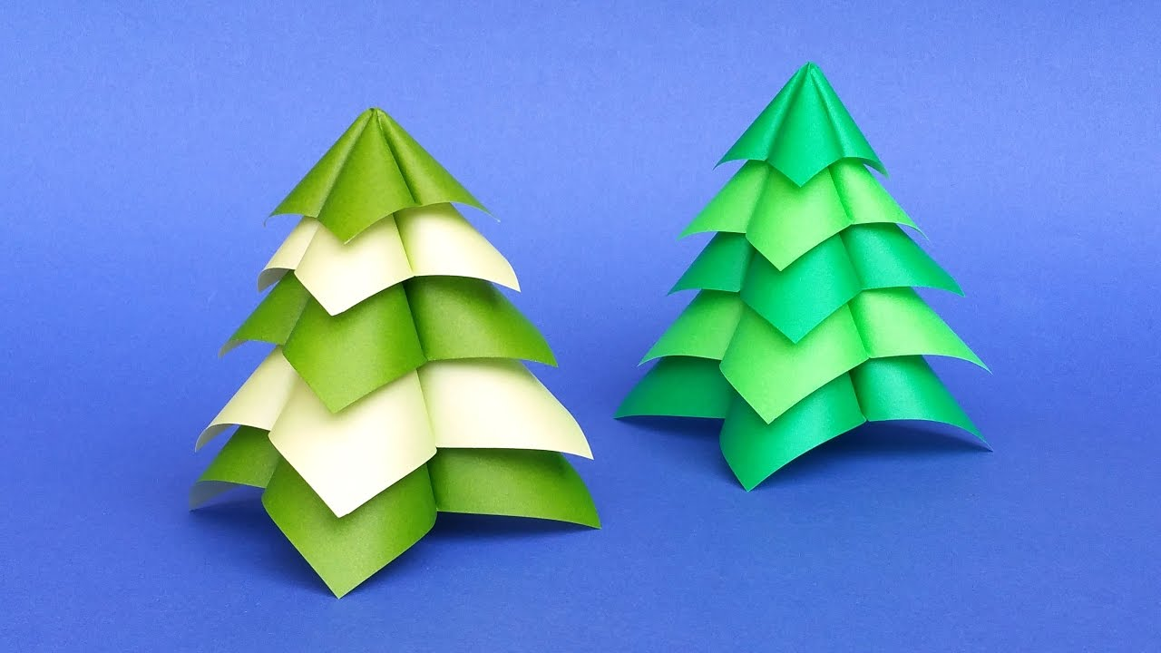 Quick and easy origami christmas tree diy tutorial youtube - Video d origami facile ...