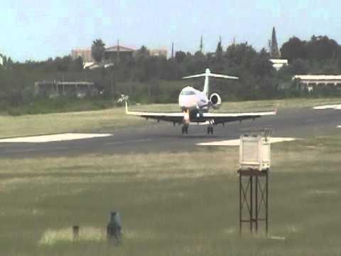 Flexjet Challenger 300 Landing Runway 10 Anguilla Clayton J. Lloyd Airport TQPF