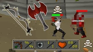 The MOST SATISFYING COMBO EVER! OSRS Dark Bow To DTA Pking