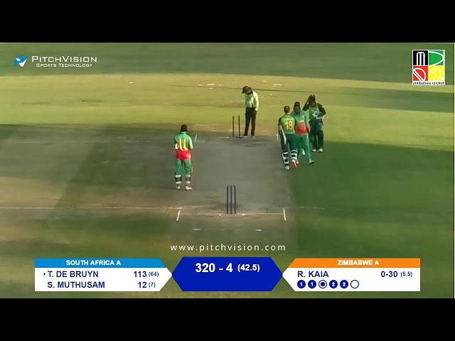 Zimbabwe A vs South Africa A | 1st One Day