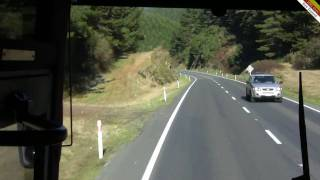 Intercity bus from Auckland to Wellington, New Zealand