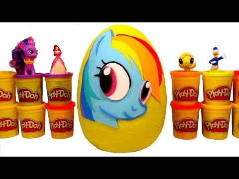 Oyun Hamuru Ile Dev My Little Pony Sürpriz Yumurta - MLP, LPS Oyuncakları, Minion