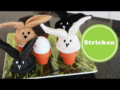 Häschen Eierwärmer stricken für Anfänger | Ostern | Anleitung kostenlos