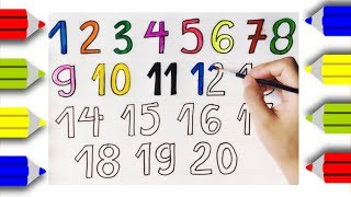 How to Draw Numbers 1-20 | Learn Numbers - An Pi TV Coloring
