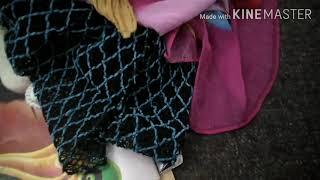 ثوب طفلة من اعادة تدوير الشالات  (الفيديو طويل وممل لكن فيه بعض الملاحظات والمعلومات للمبتدئات )