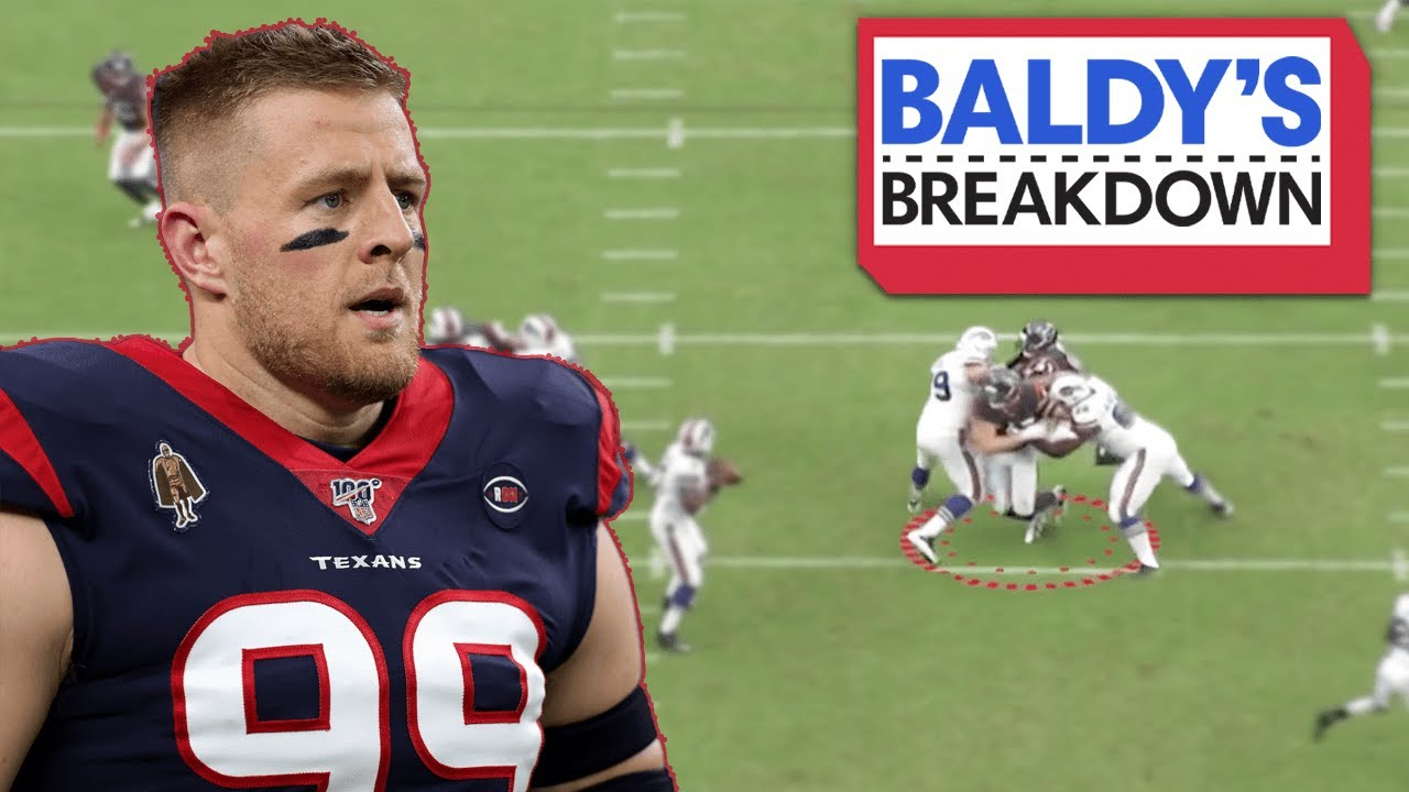 That Time JJ Watt Singlehandedly Beat the Bills | JJ Watt vs. Buffalo Bills | Baldy Breakdowns