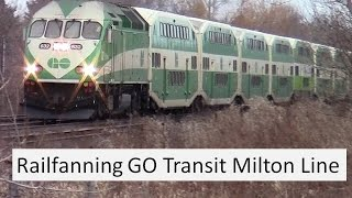 Railfan Go Transit Milton Line  March 2015 with extra Port Credit footage