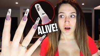 I Tried The WEIRDEST Nail Art That SHOULD NOT EXIST!!