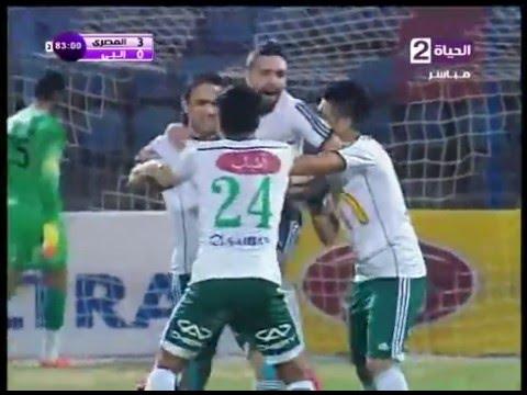 اهداف مباراة المصرى و انبى الدورى المصرى 1-3-2016