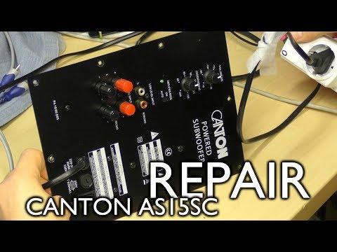 Canton AS15SC subwoofer repair