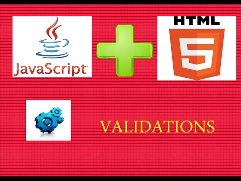 Learn how to  validate HTML form with Javascript
