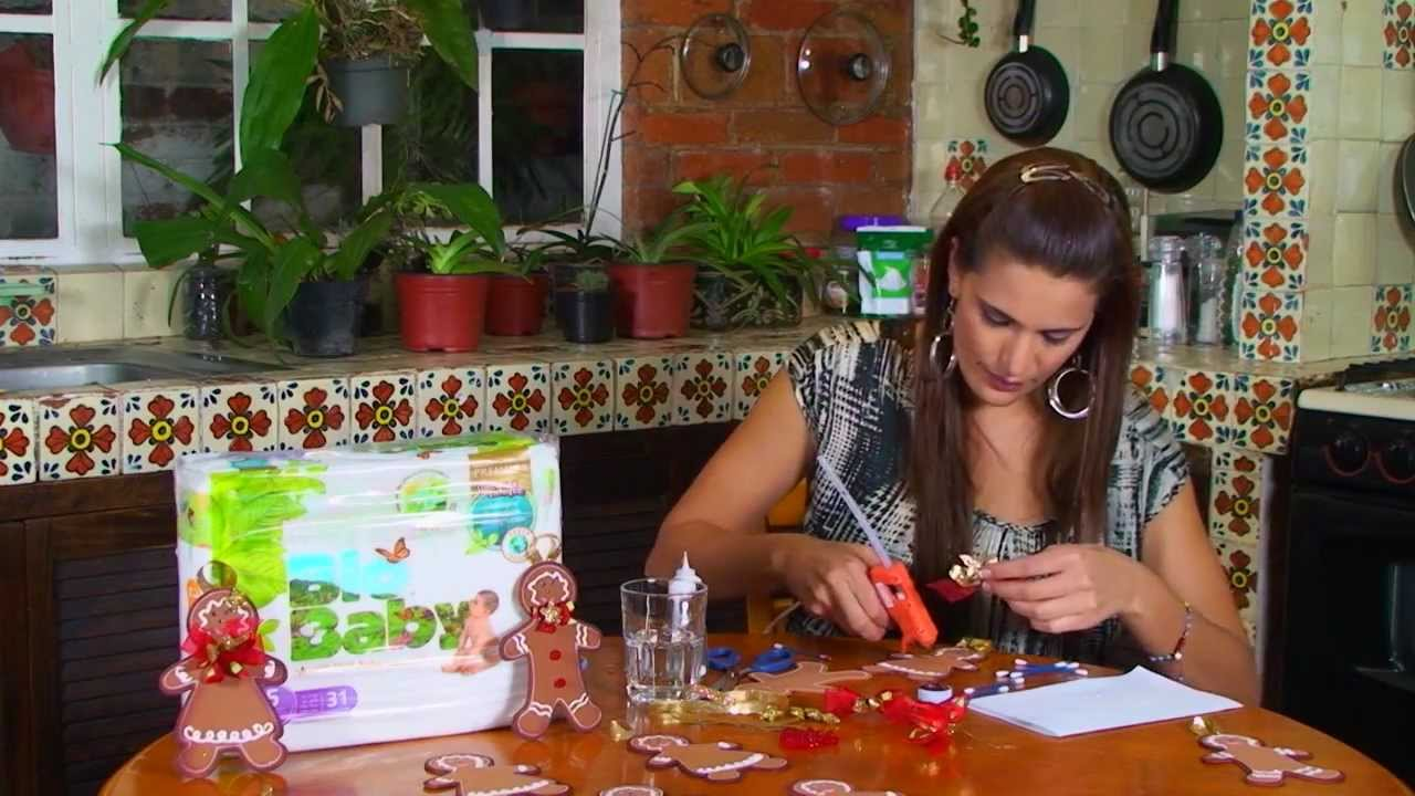 Muñeco de gengibre con carton para navidad - YouTube
