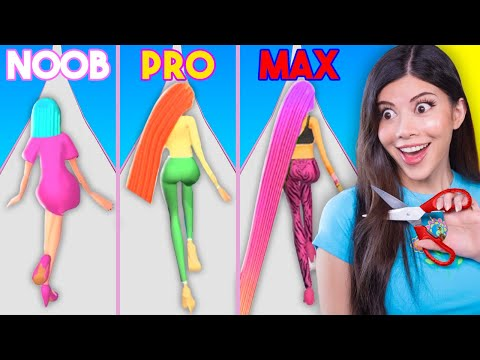 Noob vs MAX LEVEL in Hair Challenge