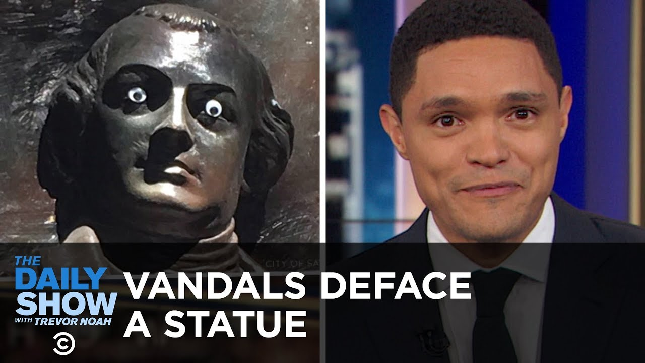 Vandals Deface a Historic Statue & The National Park Service Proposes a Protest Fee   The Daily Show