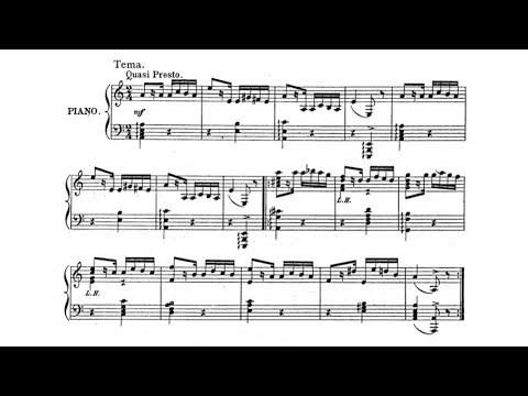 Mark Hambourg - Variations on a theme of Paganini (audio + sheet music)