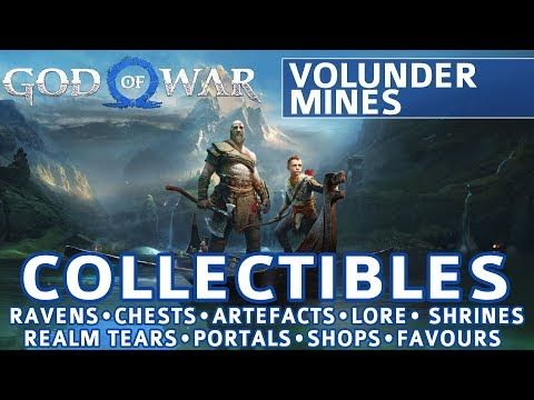 God Of War - Volunder Mines All Collectible Locations (Ravens, Chests, Artefacts, Shrines) - 100%