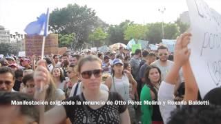 Manifestacion RenunciaYa en Ciudad de Guatemala 2015