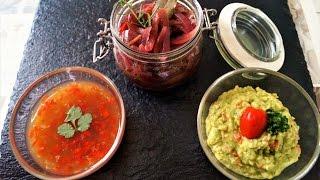 Soßen und Zwiebelconfit für Fondue und Raclette
