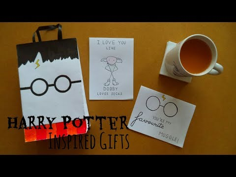 Harry Potter Inspired Gifts Part 2 (Cards & Gift Bags) | My Crafting World