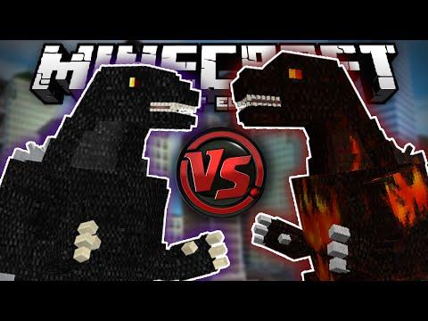 MASSIVE GODZILLA BATTLE!!! - Weirdest Mod Ever - Godzilla Mod MCPE - Minecraft PE (Pocket Edition)