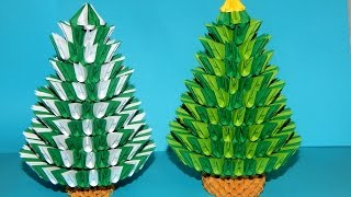 How to make 3d origami Christmas tree (2016) part 2
