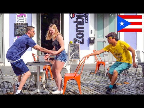 Chair Pulling Prank in Puerto Rico!!