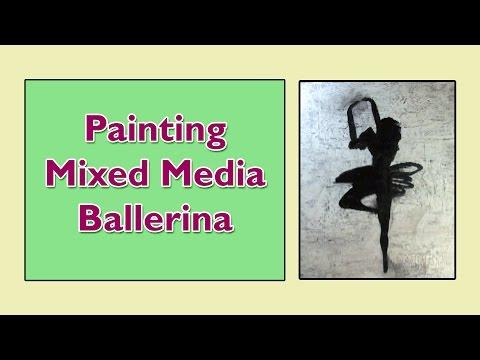 Painting Mixed Media Ballerina