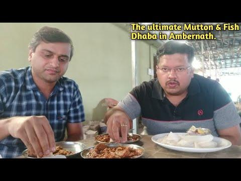 The ultimate Mutton & Fish Dhaba in Ambernath | Marathi Food Vlog | Ganpat Dhaba | Indian Food Vlog.