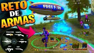 RETO DE ARMAS SOLO PUEDES USAR ARMAS DEL AERONAVE RETO#2 FREEFIRE 😅🤣*GRACIOSO*