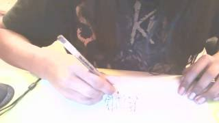 how to draw a death metal logo :)