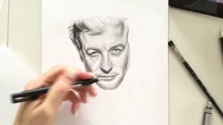 Video beim Zeichnen von Simon Baker Video when drawing Simon Baker