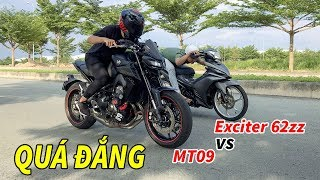 Cái Kết Khi Xe Độ Gạ Kèo PKL - Exciter62zz vs MT09
