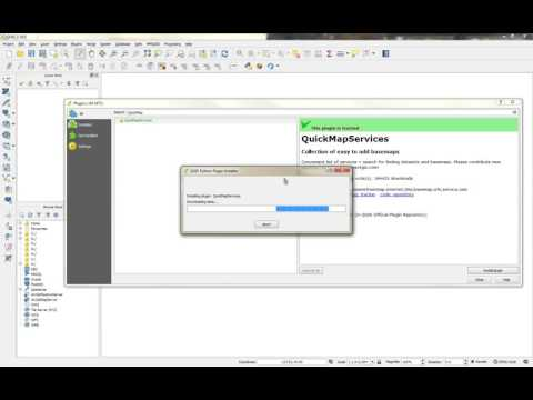 QGIS Install Quick Map Services plugin - YouTube