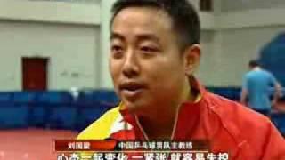 Liu Guoliang Serving Demonstration