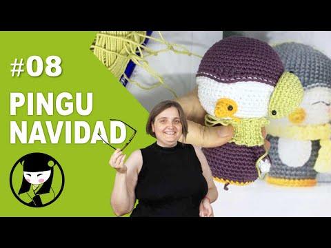 Pinguino navideño a crochet 8 amigurumis navideños