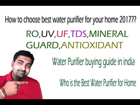 Best water purifier for home|100 % pure drinking water|best water purifier in india 2017