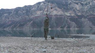 Ловля сазана на диком водоеме с берега Декабрь 2020г Ирганайское водохранилище