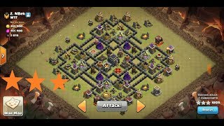 Th9 war attack strategy 3STARS..!!Box base..!!Anti war base..!! 💯%